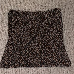 Cheetah body con skirt